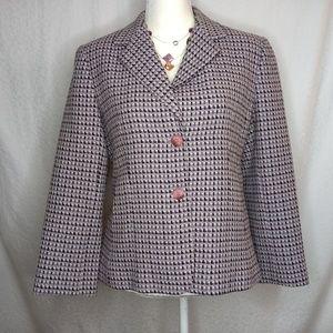 JONES NEW YORK Purple Tweed Blazer Sz 10